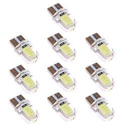 Alloet Led Light Buld, 10 X W5W 168 194 T10 COB Silicone Lig