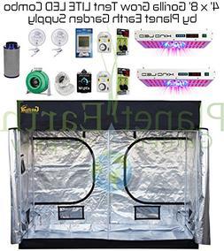 4' x 8' Gorilla Grow Tent LITE Kit KIND LED DUAL XL750 Combo