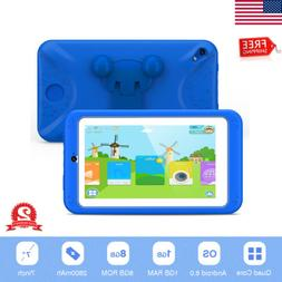 "M07R7 Android 6.0 7"" Quad Core Kids Tablet PC Dual Camera Wi"