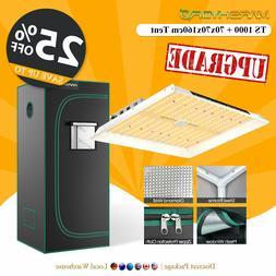 Mars Hydro TS 1000W LED Grow Light+2'×2' Grow Tent Room Ful