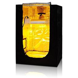 "24""x24""x36"" Mini Grow Tent Indoor Hydroponics Dark Room 100%"
