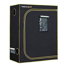 Mylar 4' x 2' 600D Hydroponic Grow Tent w/ Easy View Window
