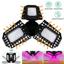 NEW LED Grow Light 40W 60W 80W Full Spectrum Hydroponic Indo