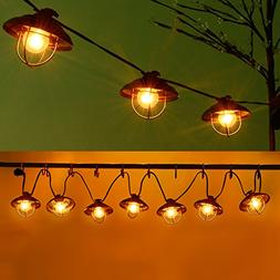 Patio String Lights, Ucharge Globe String Lights Outdoor 7 B