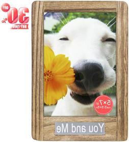 DLQuarts Picture Photo Frame with Mat 3.5x5, Without Mat 5x7