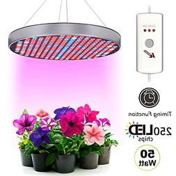 Plant Grow Light 6 Bands Full Spectrum UFO 250 LED 50W Hang