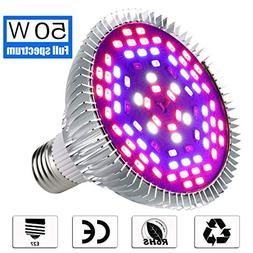 100W Led Plant Grow Light Bulb, Full Spectrum 150 LEDs Indoo