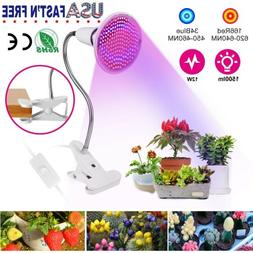 Plant Grow Light Bulbs 200 LEDs Clip Holder Flower Growing G