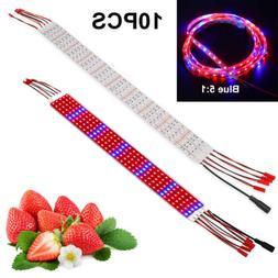 10pcs/5M 50W LED Plant Grow Light Strip Bar Red Blue 5050SMD