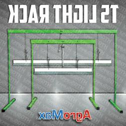 PLANT STAND RACK with 2' or 4' FLORO T5 GROW LIGHT GARDEN SE