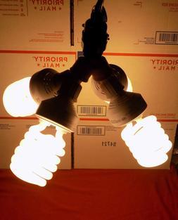 POWERFUL 600watt CFL GROW Light KIT 4X 150watt Jumbo Bulbs.