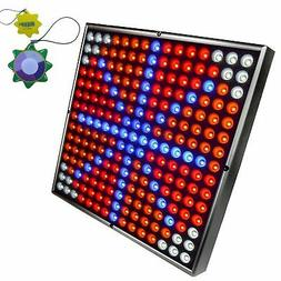"HQRP Powerful 45W Full Spectrum 12"" Square 225 LED Grow Ligh"