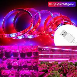 SMD 5050 LED Strip Grow Light Lamp Full Spectrum 4 Red 1 Blu