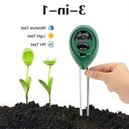 Soil Test Kit, 3 in 1 Soil Tester Soil Moisture Meter, PH an