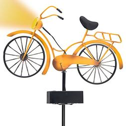 Outdoor Solar Garden Stake Lights - Vintage Bicycle Garden D