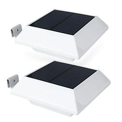Solar Gutter Lights Motion Sensor Outdoor Security Light, 6