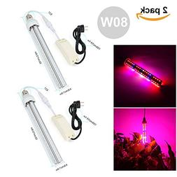 Derlights 80W Full Specreum Led Grow Light Bar with UV& IR,