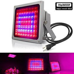 100W Full Spectrum LED Grow Light Indoor, Derlights Plant Le