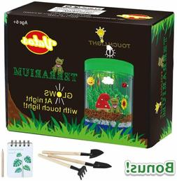 VATOS Terrarium Kit for Kids Light-up Kits with LED Grow Lig