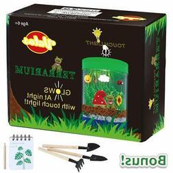 VATOS Terrarium Kit For Kids Light-up LED Grow Light Gifts F