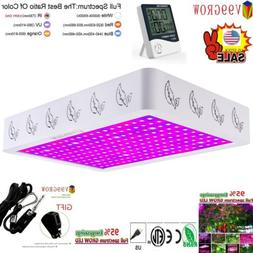 Thermometer Humidity Meter+1200/2000/4000W LED Grow Light Fu