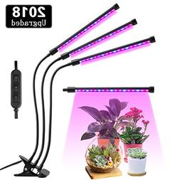 Lovebay Three Head LED Grow Light with Clip Base, 27W 54 LED