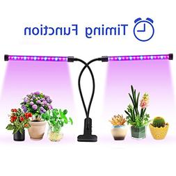 Lovebay Timing Function Dual head Grow light 36LED 4 Dimmabl