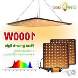 US 1000W LED Grow Light Full Spectrum For Hydroponic Veg Flo