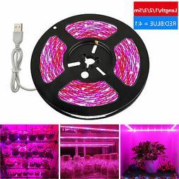USB SMD 5050 LED Strip Grow Light Lamp Full Spectrum For Pla