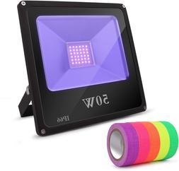 UV Black Light, Lightimetunnel 50W LED Blacklight Outdoor IP