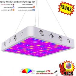 V99GROW 1000W LED Grow Light Panel Lamp Full Spectrum Hydrop