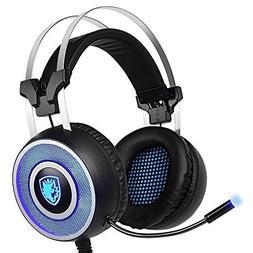 Sades W10 Gaming Headset Stand with Led Light Headphone Brac
