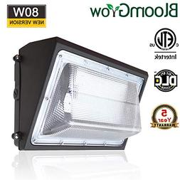 BloomGrow 80W Wall Pack LED Wall Lights 120V~277V 5000K Comm