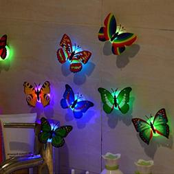 Gotian Wall Stickers Butterfly LED Lights 3D Wall Stickers f