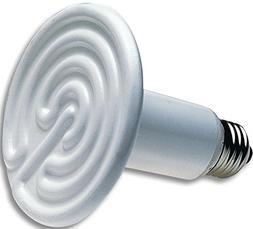 WHITE 250W 110V CERAMIC HEAT EMITTER BROODER INFRARED LAMP B