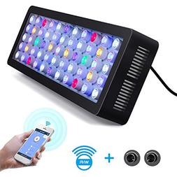 Lightimetunnel WiFi LED Aquarium Light, 165W WiFi + Dimmab
