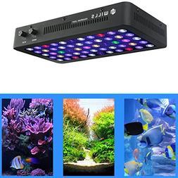 WillsLed Newest 165W LED Aquarium Light Full Spectrum Dimmab